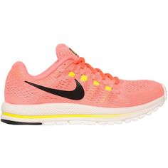 Nike Women Running Air Zoom Vomero 12 Sneakers (512.495 COP) ❤ liked on Polyvore featuring shoes, sneakers, neon pink, neon pink shoes, nike footwear, nike, nike sneakers and nike trainers