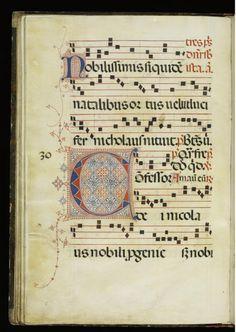 Leaf from Antiphonary. Italian, ca.1380