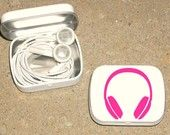 Altoid tin - earbud holder. MAKING CRAIG THIS! If he asks where his earbuds are one more time... I swear! LOL.