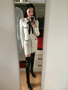 Asian Woman, Asian Girl, Thigh High Boots, Thigh Highs, Thighs, Girls, Women, Style, Fashion