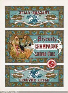 biscuits lefevre-utile/champagne, c. 1910, alphonse mucha, czech republic