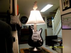 Upcycled Guitar Lamp on Etsy, $199.95