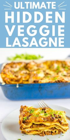 lasagne recipe, the best healthy lasagna as it's absolutely loaded with veggies, family friendly recipe, perfect for kids and picky eaters #lasagne #familymeal #hiddenveggies Healthy Family Dinners, Family Meals, Kids Meals, Easy Meals, Family Recipes, Veggie Recipes, Cooking Recipes, Healthy Recipes, Vegetable Lasagne