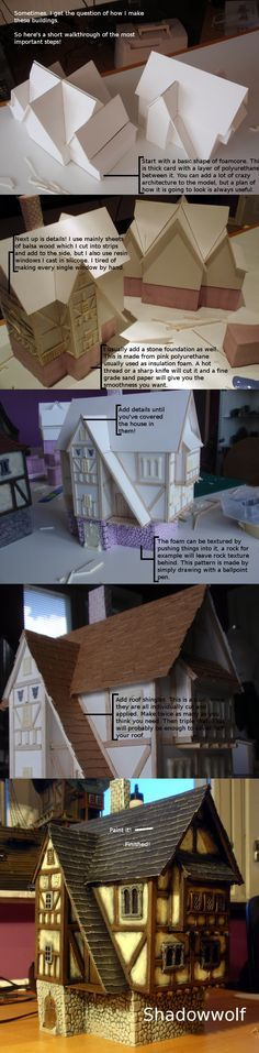 Make cardboard model house