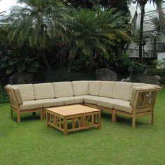 sam s club mobile teak sectional sofa set 8 pc original price rh pinterest ca