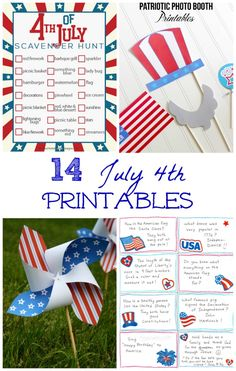 4th of July crafts and sensory play ideas -- FREE patriotic printables perfect for Memorial Day & Independence Day!