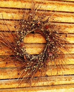 Primitive CARAMEL CRANBERRY WreathRustic Twig