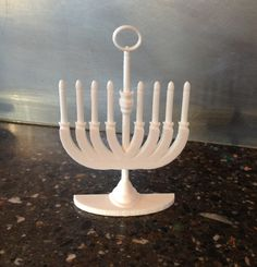 Multicultural Holiday Tree decorations. A Christma-kah Ornament 3D Printed. How else?