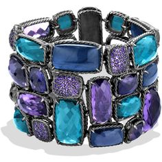 David Yurman Chatelaine Bracelet with Amethyst, Hampton Blue Topaz,... found on Polyvore