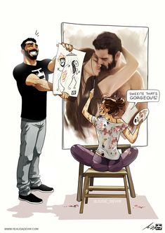 Artist Keeps Illustrating Everyday Life With His Wife In Comics And We're Not Jealous At All (New Pics)