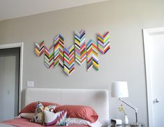 ChevronAngled... for above the fireplace?? DIY