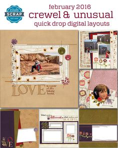 Quick 'n easy digital pages | Club Scrap Digital QDDL