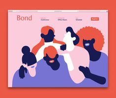 Fun illustrations, i like how the type on the bottom is integrated into the illustration. The type is lovely Ui Ux Design, Web Design Blog, Dashboard Design, Website Design, Simple Illustration, Character Illustration, Graphic Illustration, Website Illustration, Flat Design Illustration