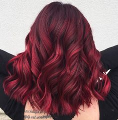 rich plum red hair color medium and short burgundy hair can certainly Hair Lights, Light Hair, Short Burgundy Hair, Maroon Hair, Burgundy Hairstyles, Crimson Red Hair, Hairstyles 2018, Curly Hairstyles, Wedding Hairstyles