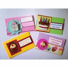 Tarjetas niña Money Holders, Envelope Design, Happy Day, Note Cards, Scrapbooking, Diy Gifts, Diy And Crafts, Card Making, Card Holder