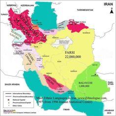 Ethnic map of Iran.