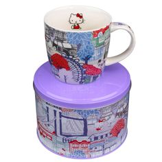 All fans of Hello Kitty products pay attention to this new collection.  Your favorite pussy got a new look thanks to a slightly withdrawn British brand Liberty.   Set consists of two porcelain tea cup and saucer with Kakurembo print and come in a