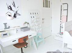 Woood bureau Max - wit | Leen Bakker | Slaapkamer meisje | Pinterest ...