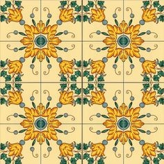 Hand painted tiles of Caltagirone by CEAR Ceramiche Azzaro & Romano Srl Painted Tiles, Hand Painted, Decoupage, Italian Tiles, Azzaro, Italian Foods, Tile Murals, Mosaic Tiles, Wedding Cards