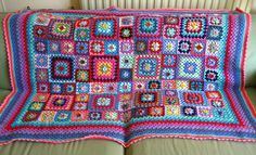 Sweet Flower Granny Blanket by Attic24, via Flickr so pretty and colourful