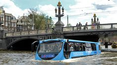The Floating Dutchman  Besides usual boat cruises through The Canal Ring in Amsterdam, there is a tour you should definitely try out. The Floating Dutchman tour is a 45-minute amphibious bus tour through the famous canals of Amsterdam. I won't miss the opportunity to ride an amfibia bus!
