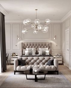 36 design ideas for a romantic master bedroom ., 36 design ideas for a romantic master bedroom 36 design ideas for a romantic master bedroo. Luxury Bedroom Design, Master Bedroom Design, Home Decor Bedroom, Interior Design, Bedroom Designs, Master Bedrooms, Bedroom Suites, Master Suite, Luxury Home Decor