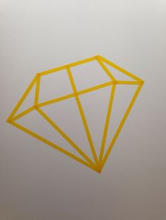 Washi tape diy diamond