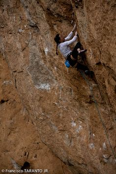 Alizée Dufraisse has done the 4th overall and first female ascent of La Reina Mora, a 5.14b/d1 in Siurana, Spain.  Man I miss Climbing!