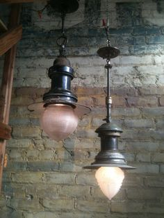 Repurposed lights - these would look great over my kitchen island!