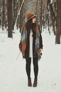 Now that the snow is back I need to carry on looking for winter-outfit inspiration - and that scarf is lovely!