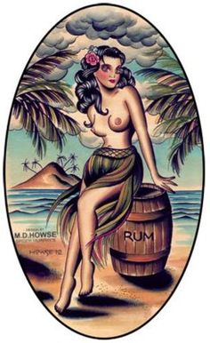 fuckyeahtiki: Rum is Tiki sez I Art by Matt Howse (Spider Murphys Tattoo)