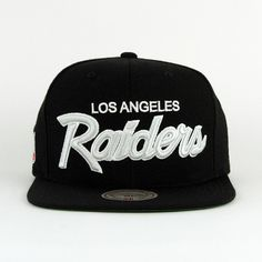 Los Angeles Raiders SNAPBACK Mitchell And Ness (Green Under)