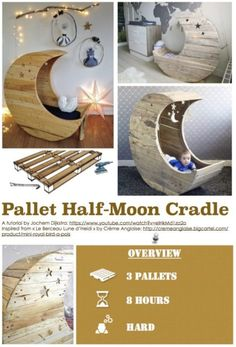 Baby Moon Cradle Tutorial (Make sure your wood is chemical free, not sure...don't use it)