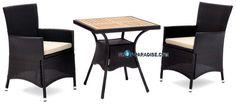 SHOP-PARADISE.COM:  Polyrattan Garnitur Tisch 2 Sessel 349,99 €