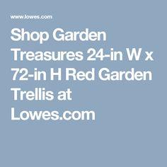 Shop Garden Treasures 24 In W X 72 In H Red Garden Trellis At