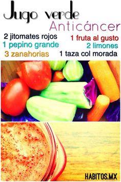 Jugo anticancerigeno (vía habitos.mx)