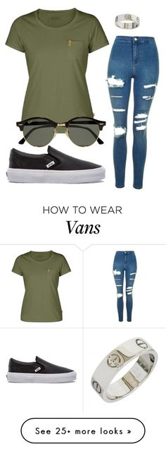 """""""#No name"""" by eemaj on Polyvore featuring Fjällräven, Topshop, Ray-Ban and Vans"""