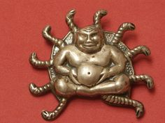 Vintage Sterling Silver Buddha Brooch-10 Naga/Serpents-925 Buddha Pin by pasttimejewelry on Etsy