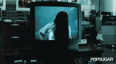 Pin for Later: Don't Look at These Horror Movie GIFs With the Lights Off The Ring (2002) Never turning on the TV again, so thanks for this.