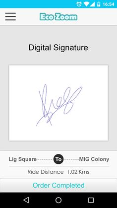 Eco zoom (Driver) Digital signature.