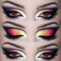 Colorful vibrant make up by:#melformakeup