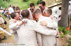 Pre-wedding huddle   Colorado wedding   Brook Forest Inn, Evergreen