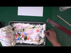 Marbling paper with Shaving cream- YouTube