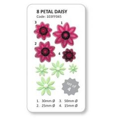 Jem 4 Set Pointed 8 Petal Daisy Flower Plastic Icing Cut Out Cutters Sugarcraft Baking Supply Store, Baking Supplies, Icing, Cake Decorating, Daisy, Flowers, Plastic, Cakes, Cookie Cutters