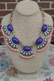 Gorgeous Glare - (Purple) | RMC JEWELRY #shoponline #shoprmc #rmcjewelry #statementnecklace #boutique #downtownsavannah