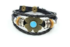 November's Chopin Unique Metal Four-Leaf Flower Button Multistrand Leather Adjustable Braided Wrap Bracelet November's Chopin http://www.amazon.com/dp/B0146AJRYY/ref=cm_sw_r_pi_dp_X-pjwb1B9KX21