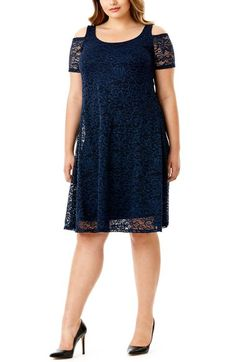 Mynt 1792 Lace Cold Shoulder Dress (Plus Size) available at  Nordstrom Plus  Size ba98356d0548