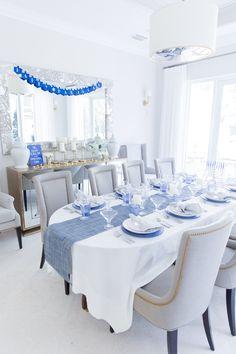 8 Cheap Things to Maximize a Small Bedroom . (Read more). Feliz Hanukkah, Happy Hanukkah, Fashionable Hostess, How To Celebrate Hanukkah, Hanukkah Decorations, Blue Christmas, Christmas Hanukkah, Christmas Decor, Cottage Living