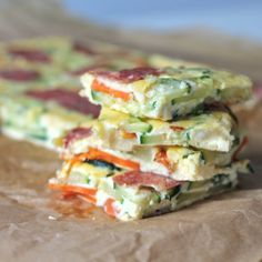 Awesome and easy to make baked breakfast vegetable frittata. A healthy start to your day!