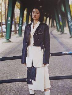 Duster Coat, Leather Jacket, Actresses, Poses, Jackets, Style, Fashion, Studded Leather Jacket, Female Actresses